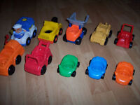 4 différents lots de véhicules garage Little People Fisher Price