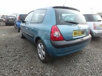 Breaking Renault Clio Mk2 Light Blue parts are available