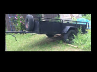 4 x 8 Utility Trailer With Spare Tire