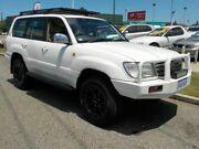 2002 Toyota Landcruiser 100 Series Sahara White 5 Speed Automatic Wagon Victoria Park Victoria Park Area Preview