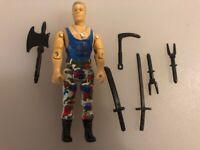 G I JOE BODY PART 1993 V2   M Bison     Right Arm      C8.5 Very Good