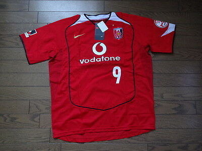 Urawa Red Diamonds Reds 100% Original Japan Soccer Jersey XL BNWT 2005 J-League image