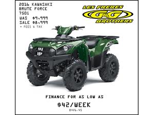 SAVE UP TO $1100 ON ALL NEW KAWASAKI ATV'S AT G & G BROTHERS LTD