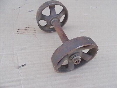 Vintage 3-12 Wheels And Axle Industrial Cast Iron Steampunk