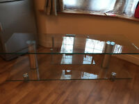 TV Stand upto 65 inch TV Currys toughened glass quality
