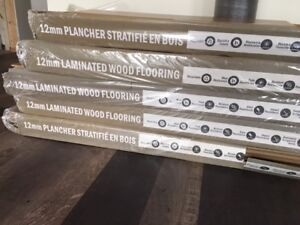 90 sq ft of 12 mm thick laminate flooring, 60 sq ft of underlay