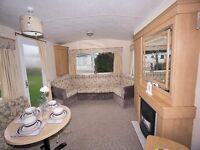 Cheap static caravan, onsite sale, near beach, heated pools & fishimg lake , pub & complex