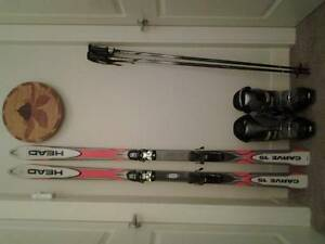 Skis,Boots,Poles  Size 13 Mens