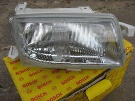 Vauxhall Astra Mk 111 headlight unit, Bosch, unused.