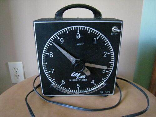 Gralab GRALAB Model 201 Meylan Stopwatch Micro-Timer Photography Dark Room/Vtg