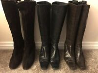 LK Bennett Leather boots - 3 pairs - SIZE 40