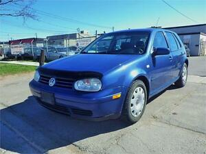 SOLD!!! VW GOLF 5-SPEED MANUAL! ALLOY RIMS!CERTIFIED!