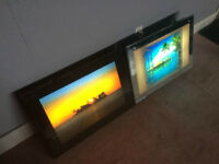 2 Glass Scenery's That Light Up And Sound