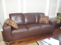 leather couch and sofa $500.00