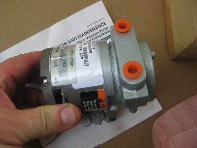 Gast USA 24V Brushless Rotary Vane Air Pump Compressor 24 volt DC 24vdc *SPECIAL
