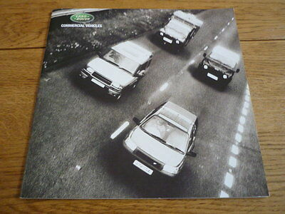 LAND ROVER COMMERCIAL VEHICLES BROCHURE 2002, jm
