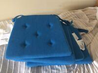 4 x Garden Chairs Cushions, blue