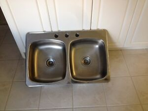 Stainless Double Sink for Kitchen or Laundry room