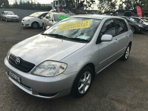2003 Toyota Corolla ZZE122R Ascent Seca Silver 4 Speed Automatic Hatchback Lansvale Liverpool Area Preview