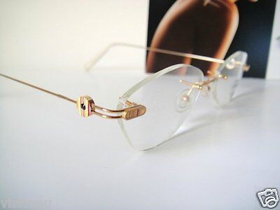 Flair 52-18 Jewelry Noble Palin Glasses Eyeglass Frame Rimless Gold Women Brille