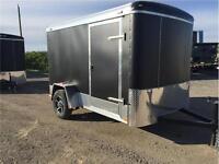 Matte black 6 x 10 Atlas trailer - coolest looking trailer