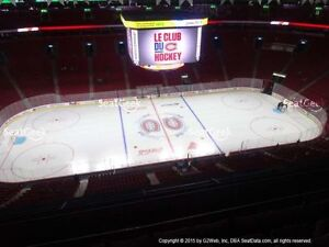2 ou 4 billets colles Canadiens de Montreal .303 row A ou 308CC