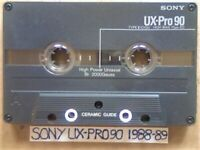 A2Z RARE SONY UX-PRO 90 PREMIUM AUDIOPHILE CHROME GUARANTEED CASSETTE TAPES 1988-89 W/ CCL's & FP&P