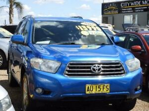 2007 Toyota Kluger GSU40R KX-S 2WD Blue 5 Speed Sports Automatic Wagon Mount Druitt Blacktown Area Preview