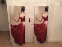 One Pair of Lady in Red Pictures