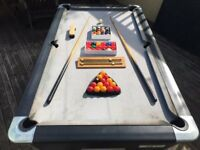 Outdoor billiard/poolTable £400.00 working order collection of balls and 2 cues included