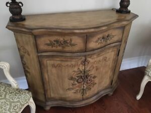 Living room, dining room, den storage commode - versatile piece