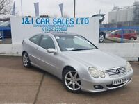 MERCEDES-BENZ C CLASS 1.8 C180 KOMPRESSOR SE SPORTS 3d AUTO 141 BHP VERY (silver) 2004