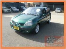 2002 Renault Clio Expression Green 5 Speed Manual Hatchback Warwick Farm Liverpool Area Preview