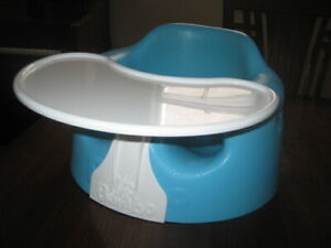 Bumbo Seat With Tray Blue Colour In Excellent Condition