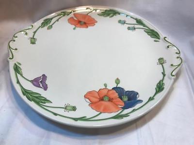 Villeroy & Boch Amapola Handled Cake Plate