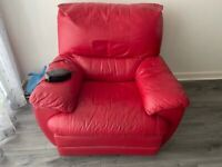 dfs leather electric sofa for sale perfect working excellent condition collection from leeds