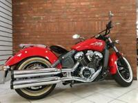 2017/17 Indian Scout With 3092 Miles Finished In Red