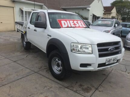 2008 Ford Ranger PJ XL Crew Cab Hi-Rider White 5 Speed Automatic Utility