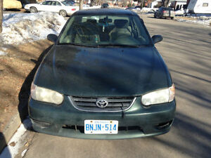 2001 Toyota Corolla CE Sedan $1,000 OBO Make an Offer!