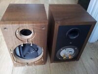 Monitor Audio BR1 Speaker Cabinets Only in Walnut Finish. No Drivers