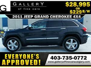 2011 Grand Cherokee Overland $229 bi-weekly APPLY NOW DRIVE NOW