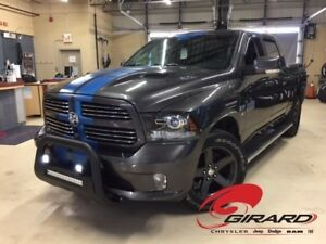 2016 Ram 1500 SPORT*LOOK UNIQUE*PUSH BAR LED*PLAN OR*8 MAGS 8 PN