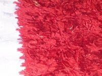 Large shaggy rug 4ft x 5 ft - deep red