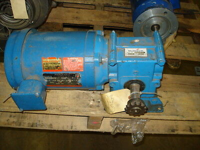Reliance Right Angle Gear Motor 12hp Fr-fb56c 1725rpm 208-230460v 3ph