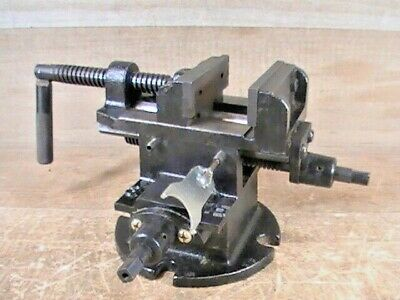 Pre-owned Unbranded 3 2-way Cross Slide Machinist Milling Vise 2-12 Opening