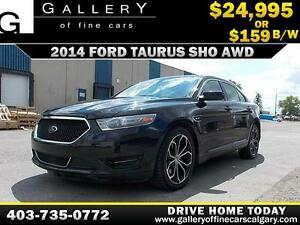 2014 Ford Taurus SHO AWD V6 $159 bi-weekly APPLY NOW DRIVE NOW