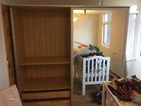 Ikea PAX Malam Wardrobe with sliding doors