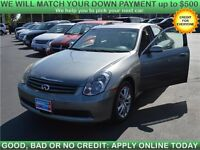 2005 Infiniti G35 Sedan x AWD with Sunroof, Leather, Loaded