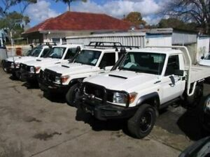2010 Toyota Landcruiser VDJ79R 09 Upgrade GXL (4x4) White 5 Speed Manual Cab Chassis Roselands Canterbury Area Preview