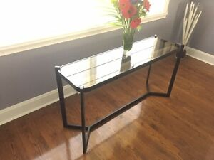 Console Table in metal and glass